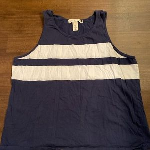 H&M Logg blue and white stripped tank top